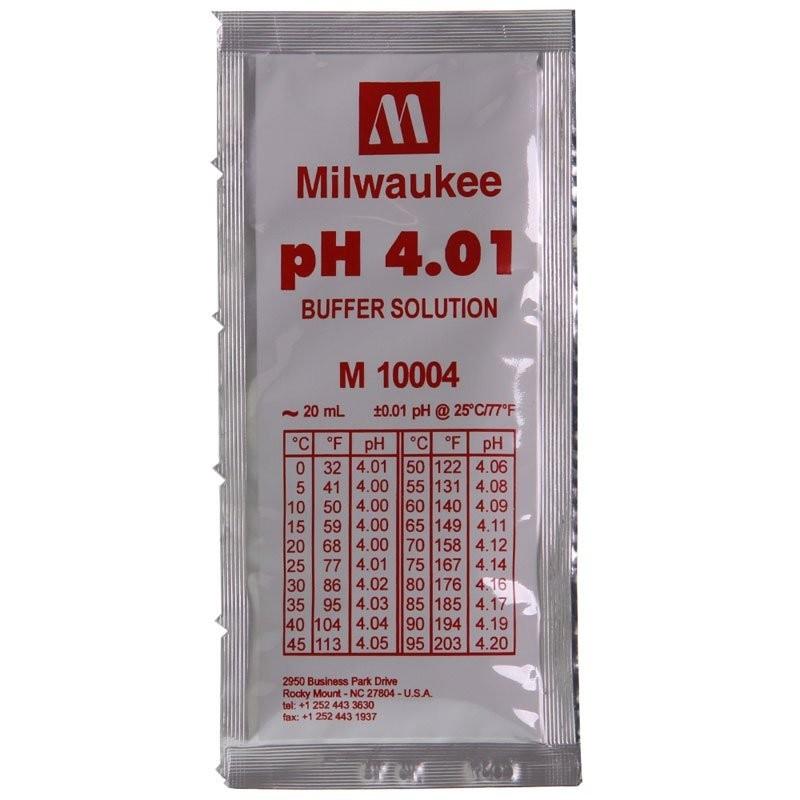 Milwaukee Soluzione in Bustina Monodose 20ml calibrazione pH 4.01