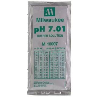 Milwaukee Soluzione taratura per misuratore digitale di ph e pHmetri  in Bustina Monodose 20 ml calibrazione pH 7.01