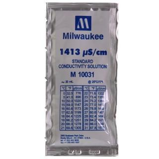 Milwaukee Soluzione taratura per misuratori di conducibilità in Bustina Monodose 20ml calibrazione 1413 µs/cm