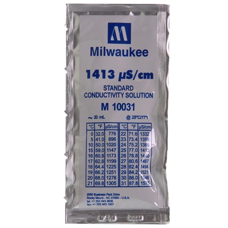 Milwaukee Soluzione taratura in Bustina Monodose 20ml calibrazione 1413 µs/cm
