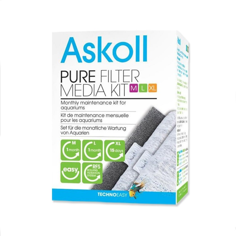 Askoll Pure Filter Media Kit S ricambio materiali filtranti per acquari Askoll Pure
