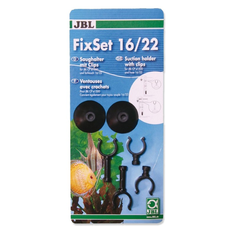 JBL Fix Set 16/22 Ventose Con Clips Per Set Di Aspirazione 16/22