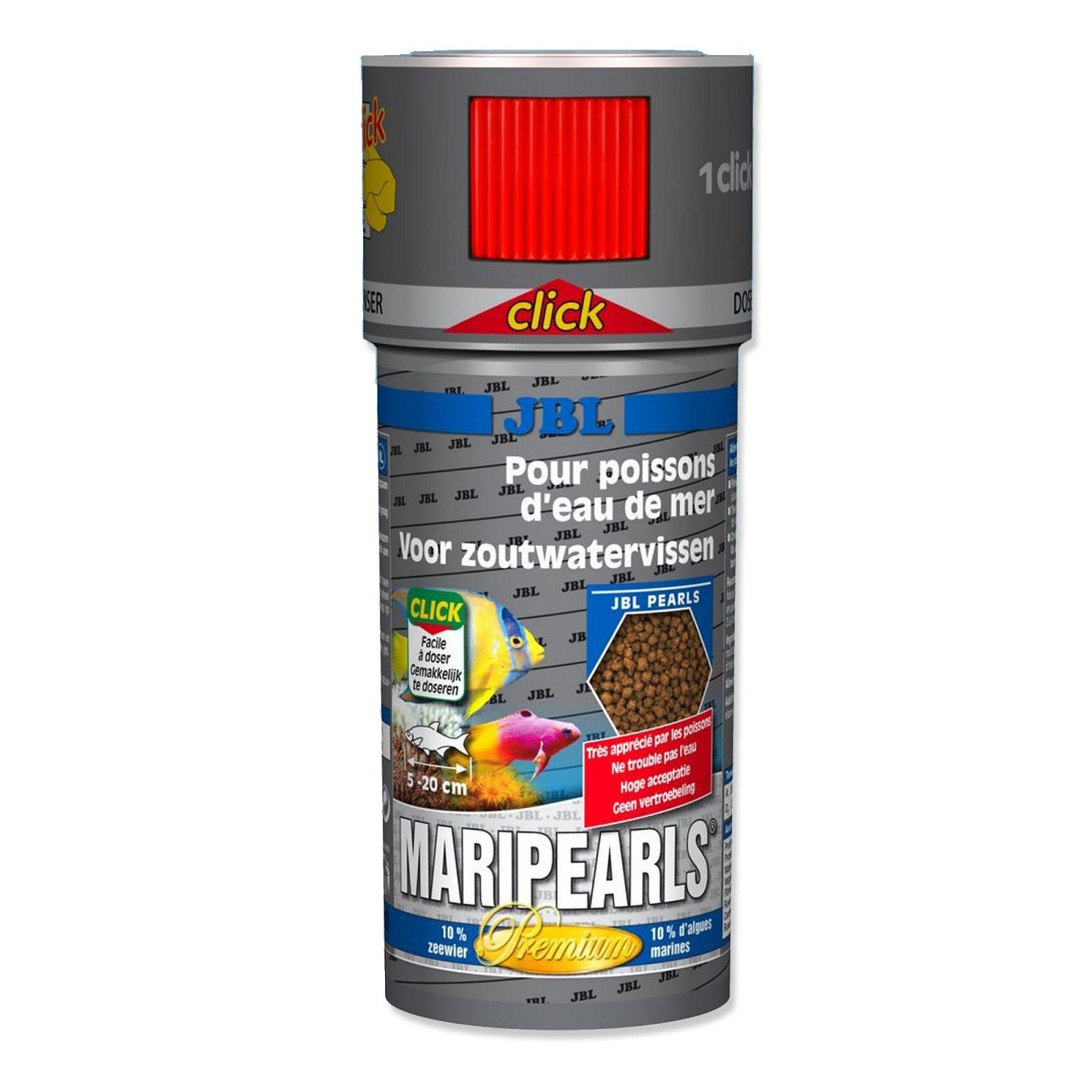 JBL MariPearls CLICK 250 ml  Mangime in perle di altissima qualità per pesci d'acquario marino