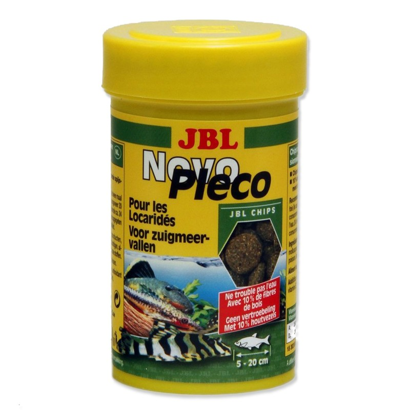 JBL Novo Pleco Chips 100 ml mangime in chips per pesci da fondo d'acquario