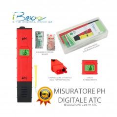 Misuratore Digitale di pH con compensazione automatica della temperatura - Precisione 0.01