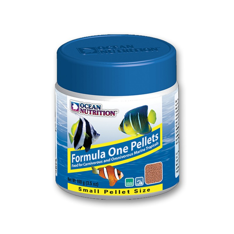 Ocean Nutrition Formula One Marine Pellet Small 100gr mangime naturale proteico per pesci marini d'acquario