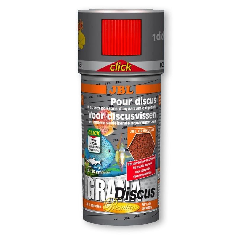 JBL Grana Discus Click 250 ml 110gr mangime semigalleggiante per discus
