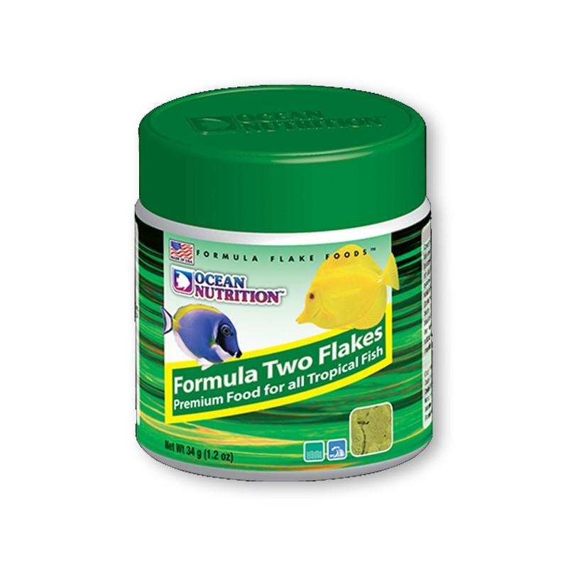 Ocean Nutrition Formula TWO Flakes 34gr mangime in fiocchi con alghe e frutti di mare per pesci d'acquario