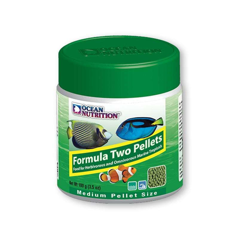 Ocean Nutrition Formula Two Marin Pellet Medium 100gr mangime per pesci marini d'acquario con basso bisogno proteico