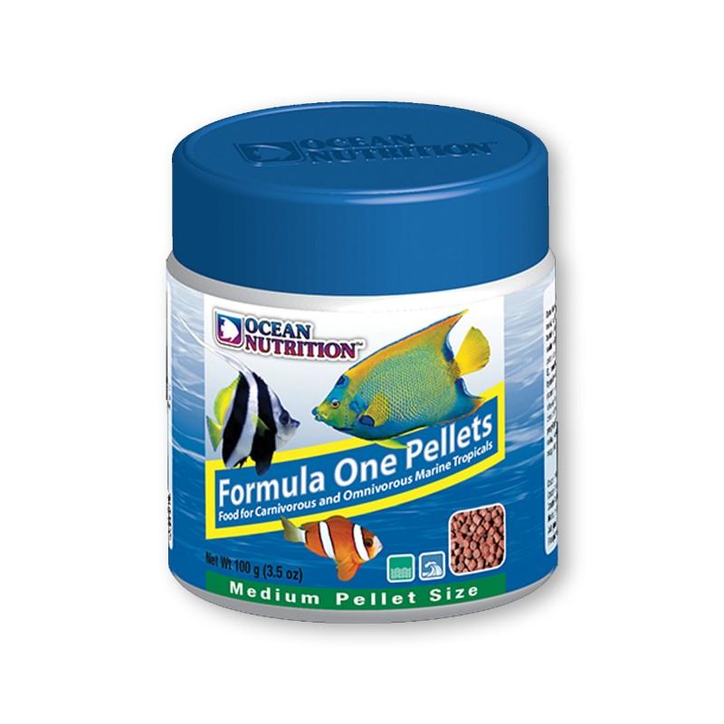 Ocean Nutrition Formula One Marine Pellet Medium 100gr mangime naturale proteico per pesci marini d'acquario