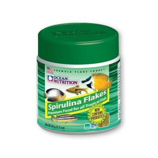 Ocean Nutrition Spirulina Flakes 34gr mangime arricchito di spirulina aiuta il sistema immunitario per pesci d'acquario