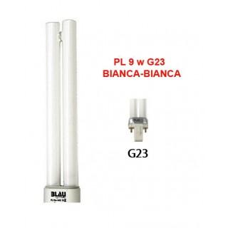 Blau Aquaristic LAMPADA PL  9W bianca-bianca G23 luce per acquario adatta per le piante