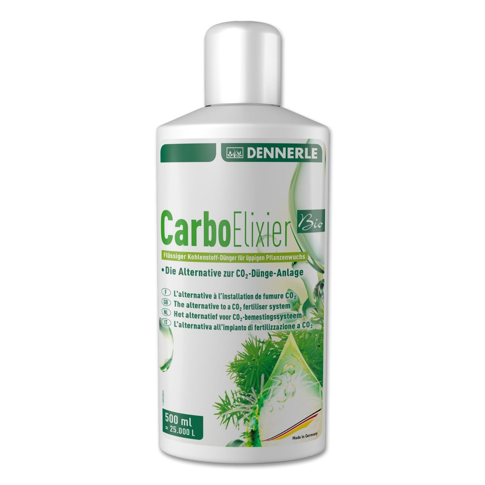 Dennerle 3112 Carbo Elixier Bio 500ml - Fertilizzante al carbonio liquido a base puramente naturale