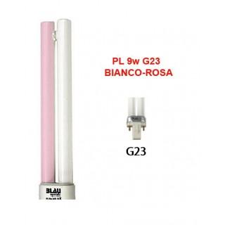 Blau Aquaristic LAMPADA PL  9W bianca-rosa G23 luce per acquario stimola le piante