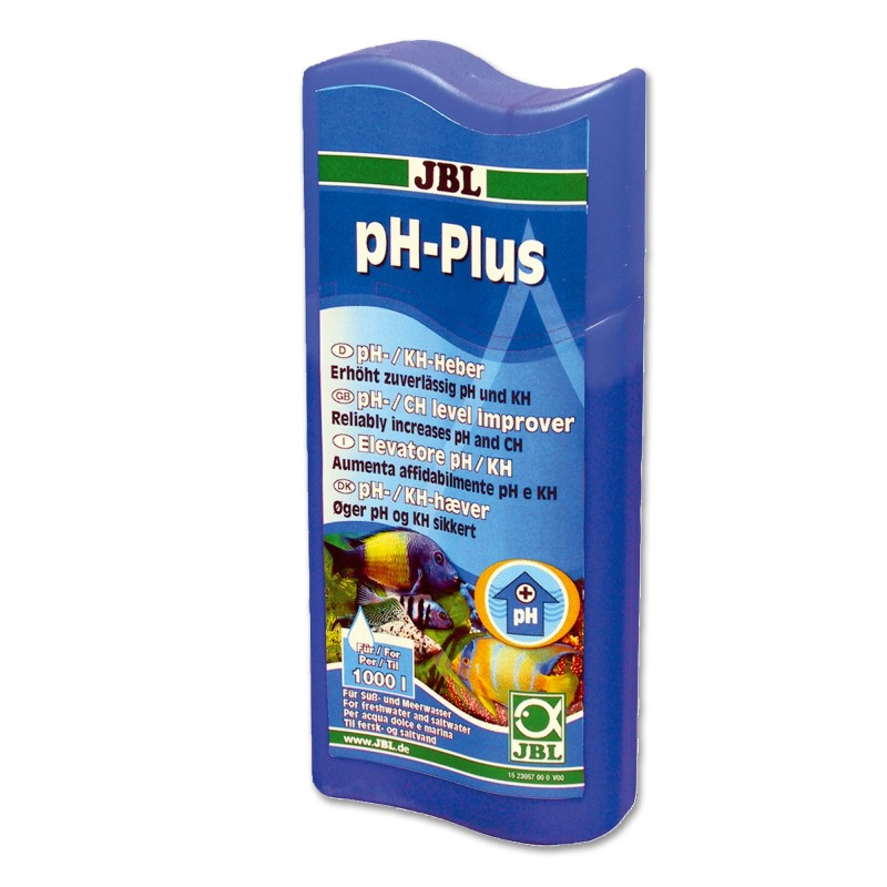 JBL pH Plus Elevatore pH/KH aumenta in modo affidabile pH e KH per acqua dolce e marina 100 ml