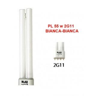 Blau Aquaristic LAMPADA PL  55W bianca-bianca 2G11 luce per acquario adatta per le piante