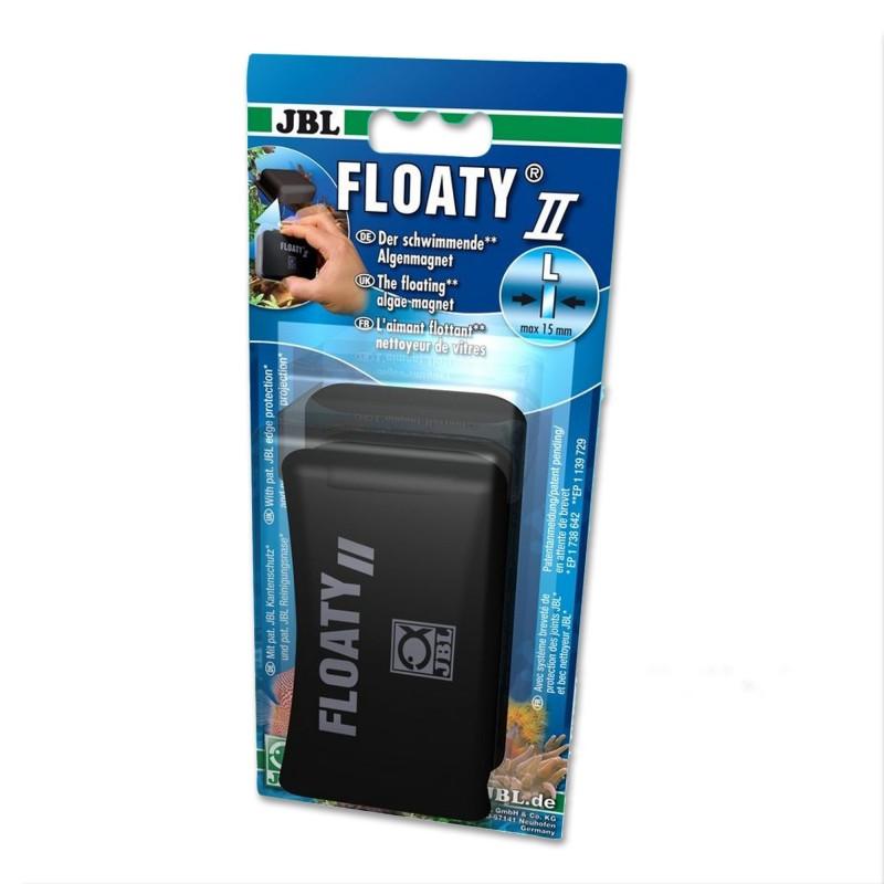 JBL Floaty II L Spazzola Magnetica Galleggiante per acquario con Vetri Fino A 15mm