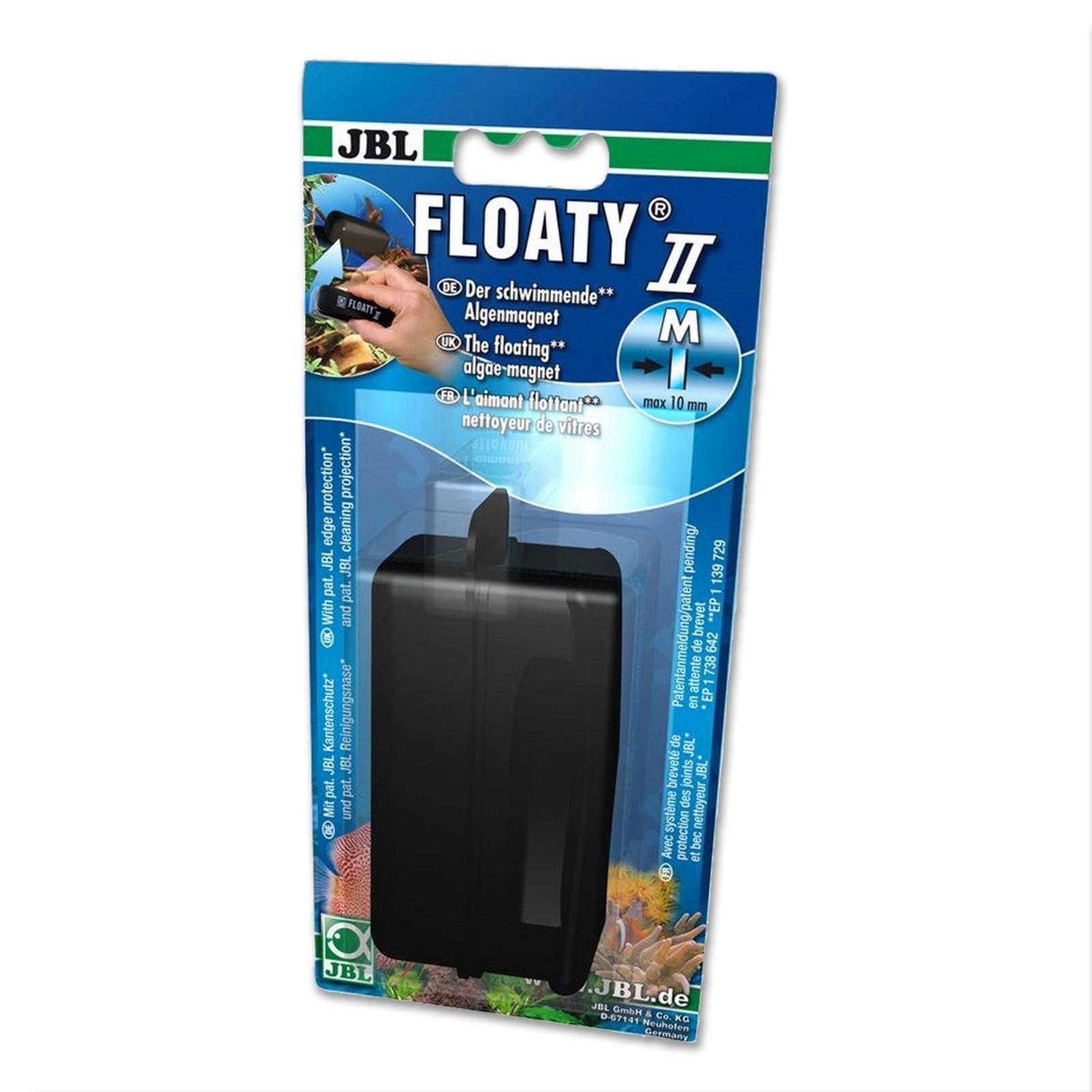 JBL Floaty II M Spazzola Magnetica Galleggiante per acquario con Vetri Fino A 10mm