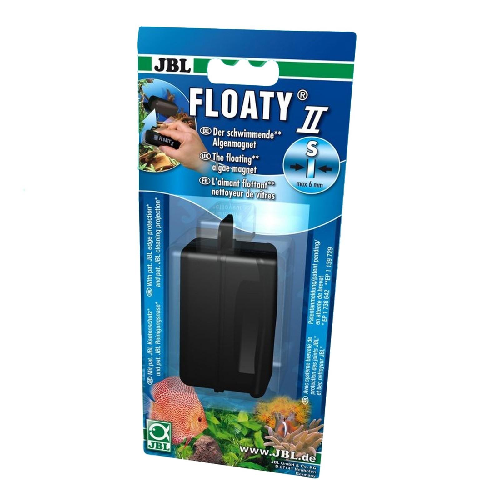 JBL Floaty II S Spazzola Magnetica Galleggiante per acquario con Vetri Fino A 6mm