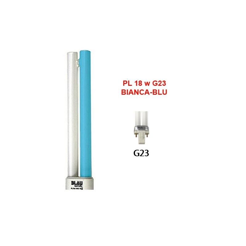 Blau Aquaristic LAMPADA PL  18W bianca-blu G23 luce per acquario marino