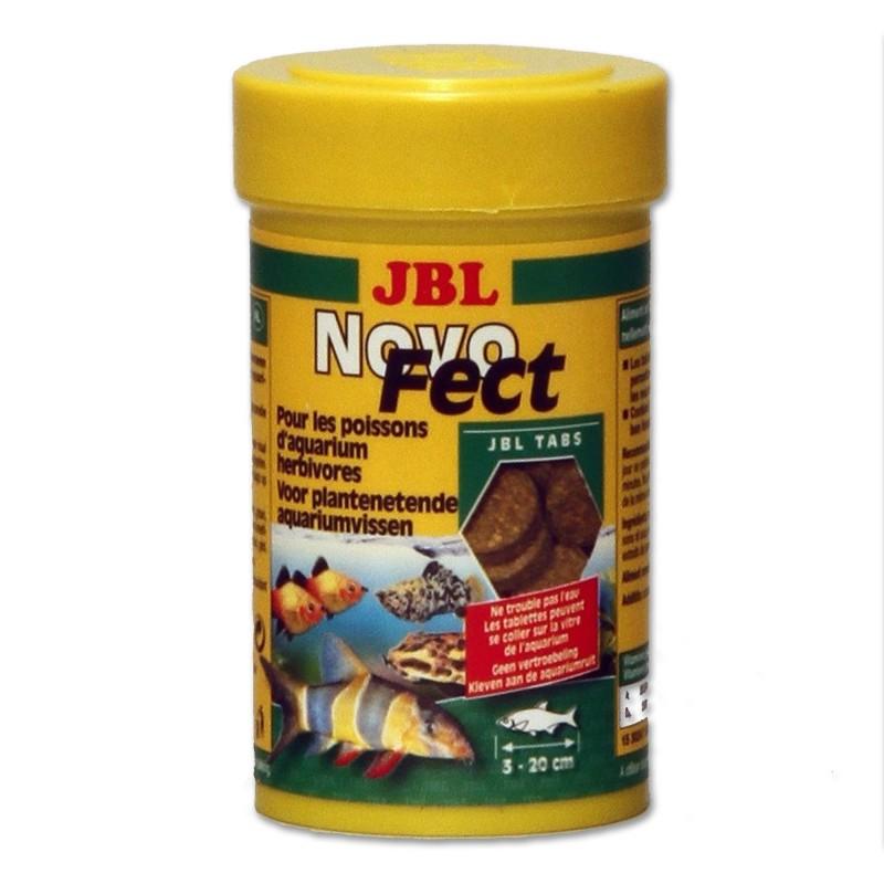 JBL Novo Fect 100 ml 160 Compresse Mangime in tabs per pesci erbivori con fibre vegetali essenziali