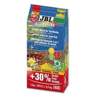 JBL Pond Sticks 4 in 1 31,5L + 30% omaggio . Menù a 4 bastoncini per pesci di laghetto da giardino