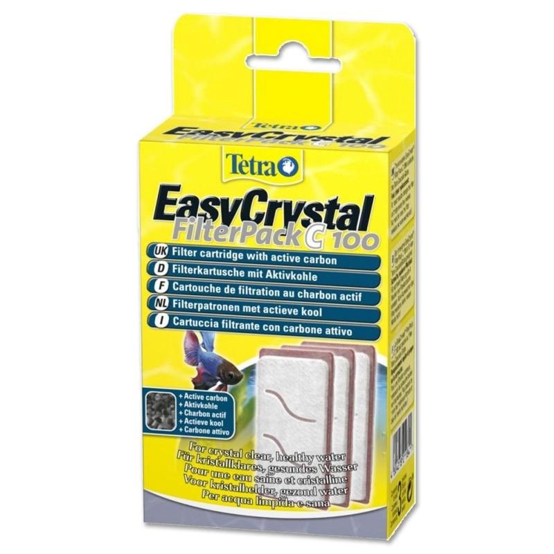 Tetra EasyCrystal FilterPack C100 per acquario boccia Cascade Globe carbone attivo