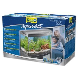 Tetra AquaArt Evolution Line 100 L acquario completo di filtro riscaldatore luce e materiale filtrante