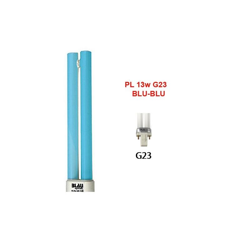 Blau Aquaristic LAMPADA PL  13W blu-blu G23 luce per acquari marini e luce lunare