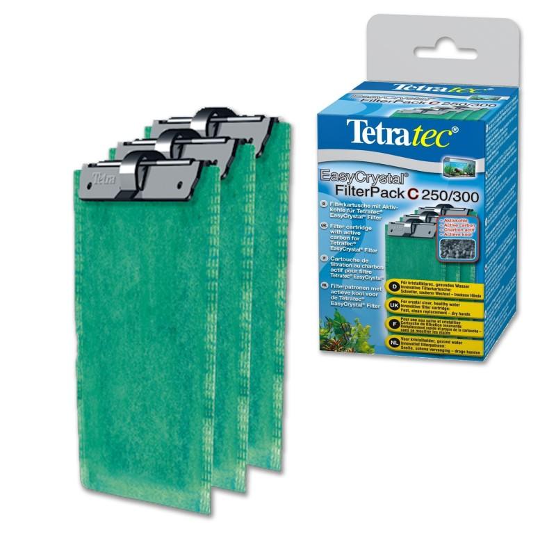Tetra Cartucce filtranti con carbone attivo per filtri EasyCrystal C 250 e 300 per acquari con acqua cristallina