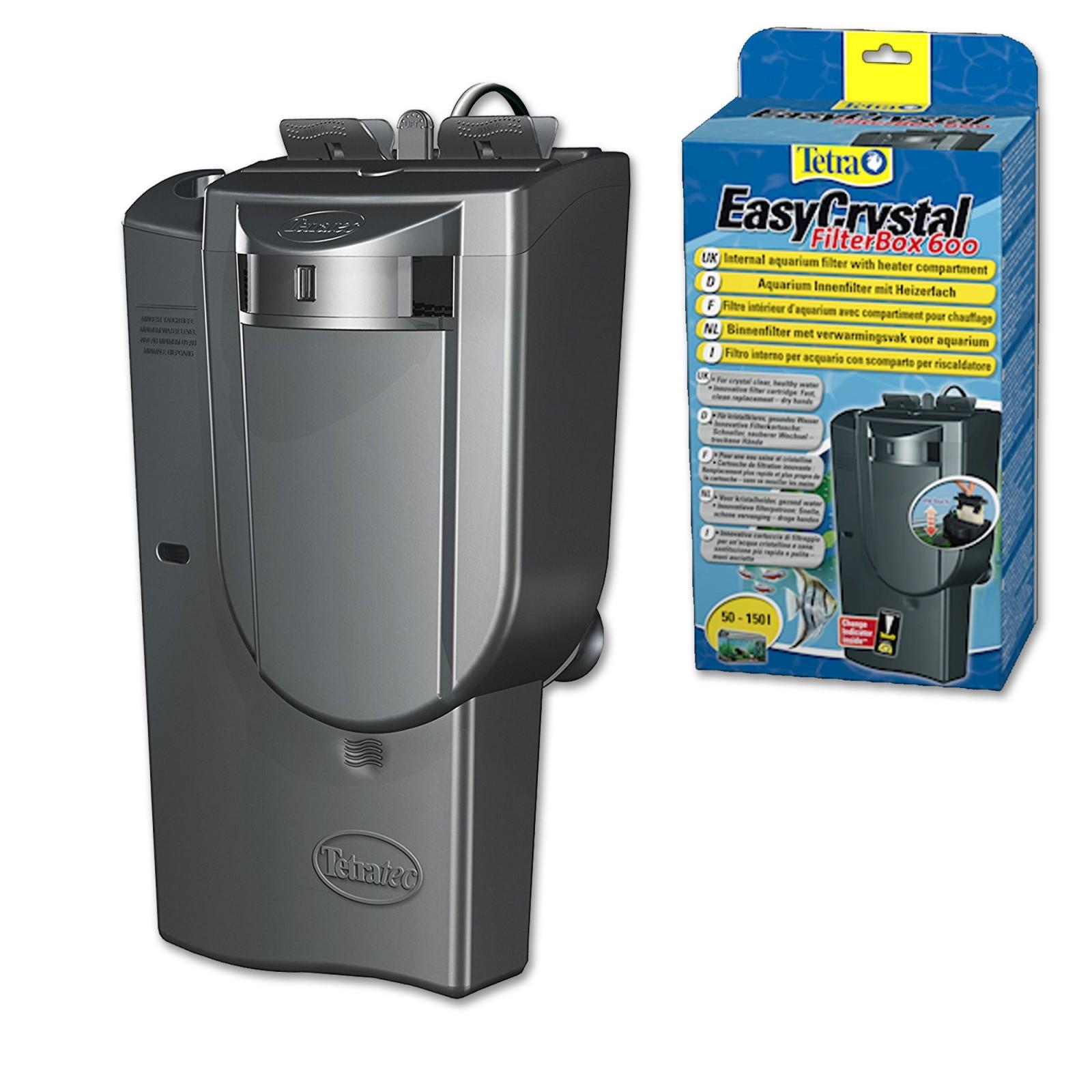 Tetra Filtro EasyCrystal 600 filtro interno per acquari fino a 150 litri con scomparto per il riscaldatore