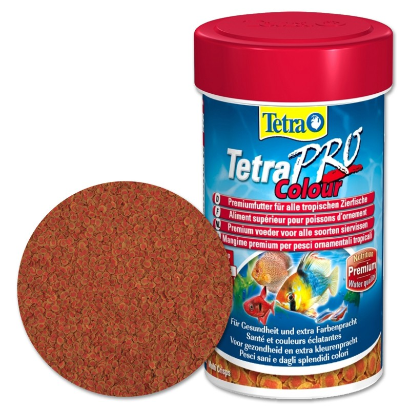 Tetra TetraPro Colour 250 ml Mangime Crisp per pesci d'acquario esalta i colori