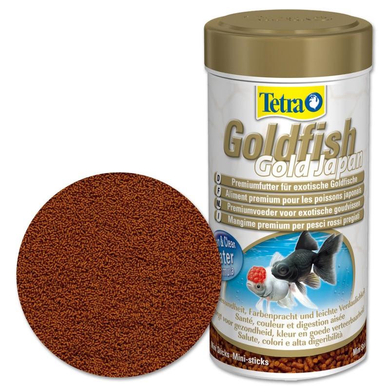Tetra Goldfish Gold Japan Mangime mini-stick per pesci rossi 250 ml alimentazione per ravvivare i colori naturali