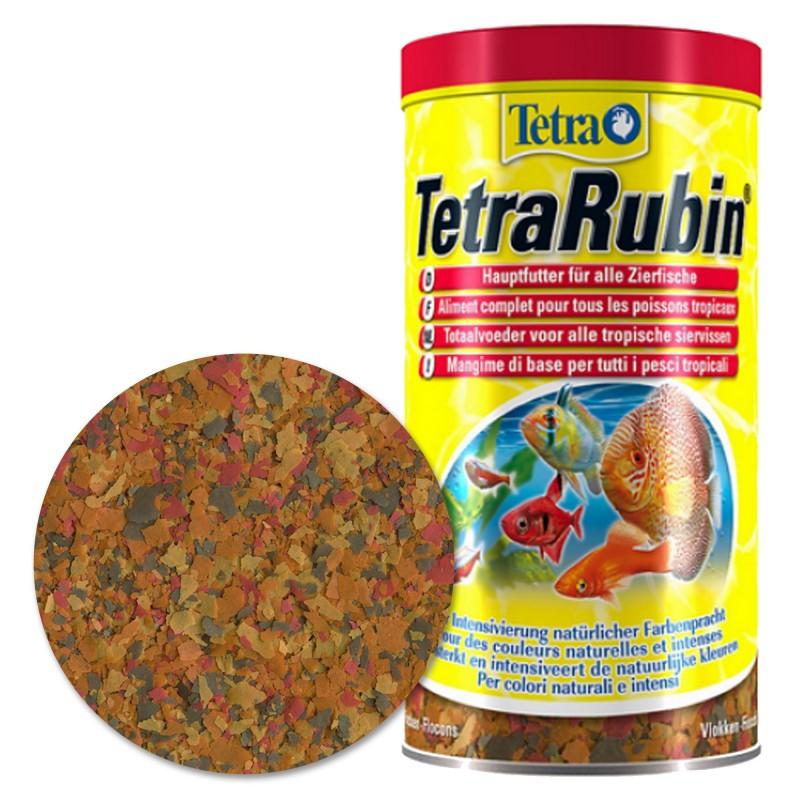 Tetra Rubin Mangime in fiocchi 100 ml vitaminizzato per pesci d'acquario esalta i colori dopo due settimane