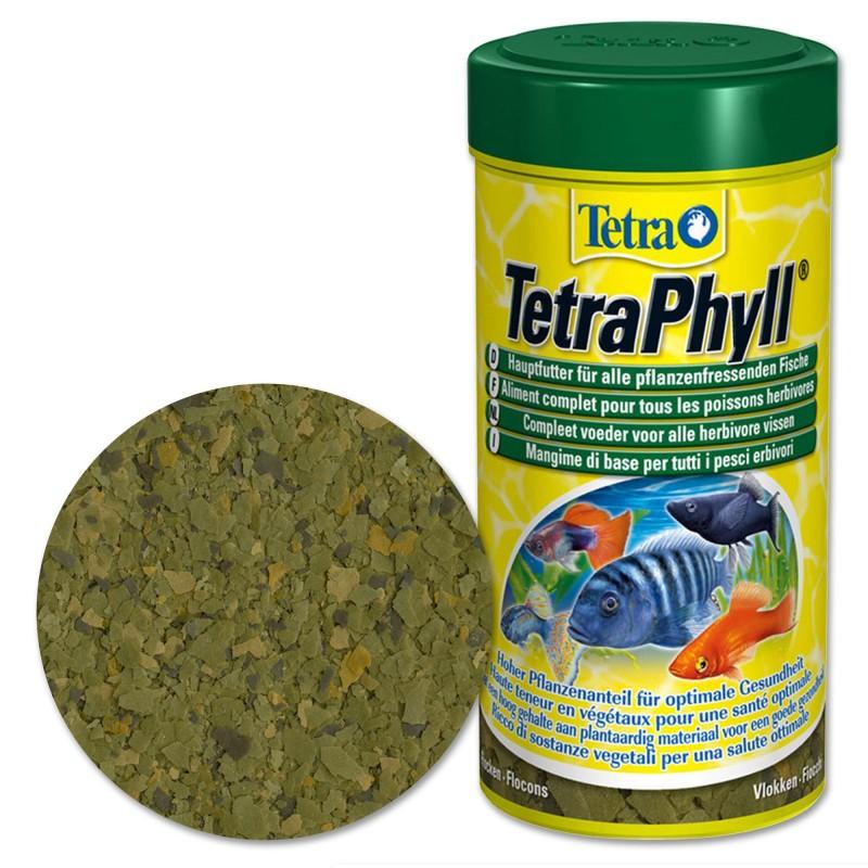 Tetra Mix TetraPhyll 100 ml mangime per pesci tropicali d'acquario migliora le funzioni biologiche