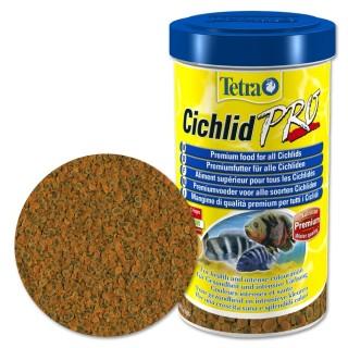 Tetra Cichlid Pro 500 ml Mangime in Crisp per ciclidi d'acquario efficiente per il sistema immunitario