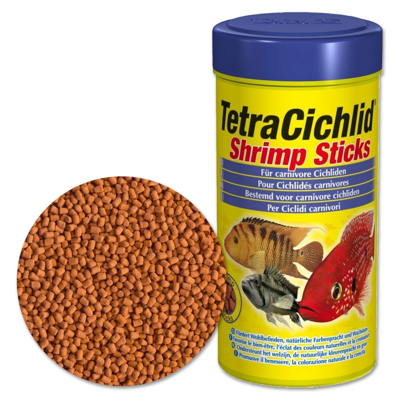 Tetra cichlid shrimp sticks 250 ml mangime in sticks per for Tetra cichlid sticks