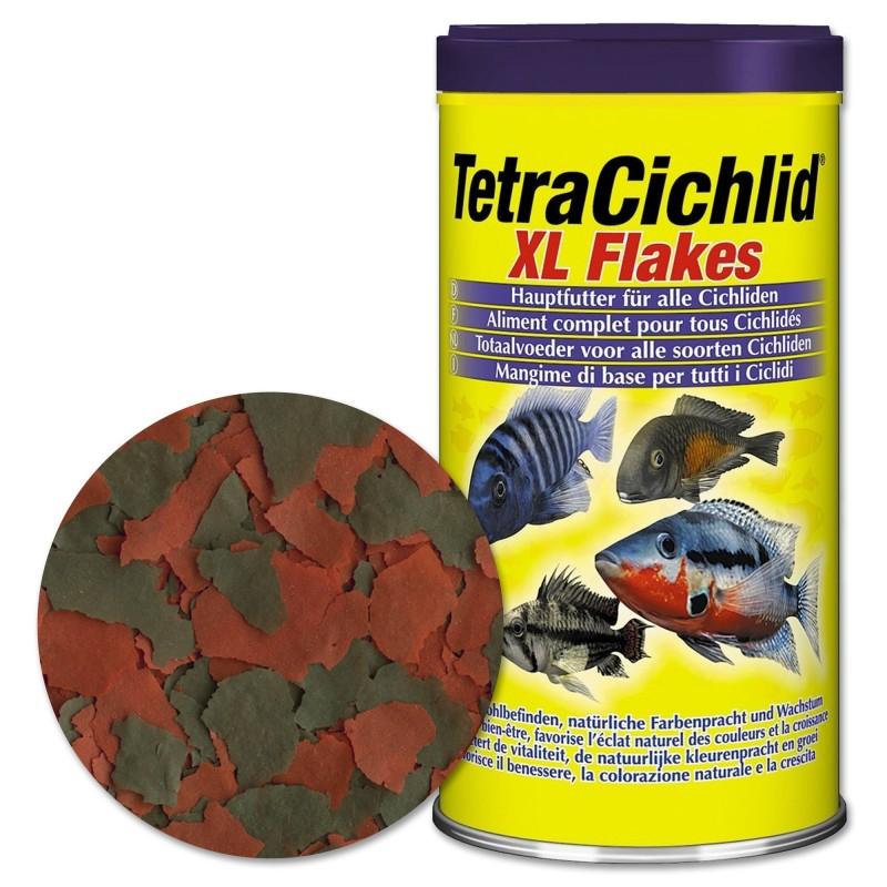 Tetra Cichlid XL Flakes 500ml Mangime in fiocchi grandi  per ciclidi d'acquario ravviva i colori e migliora resistenza all