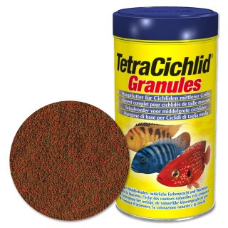 Tetra Cichlid Granules 500 ml Mangime Granuli per ciclidi d'acquario di taglia media 5 10 cm