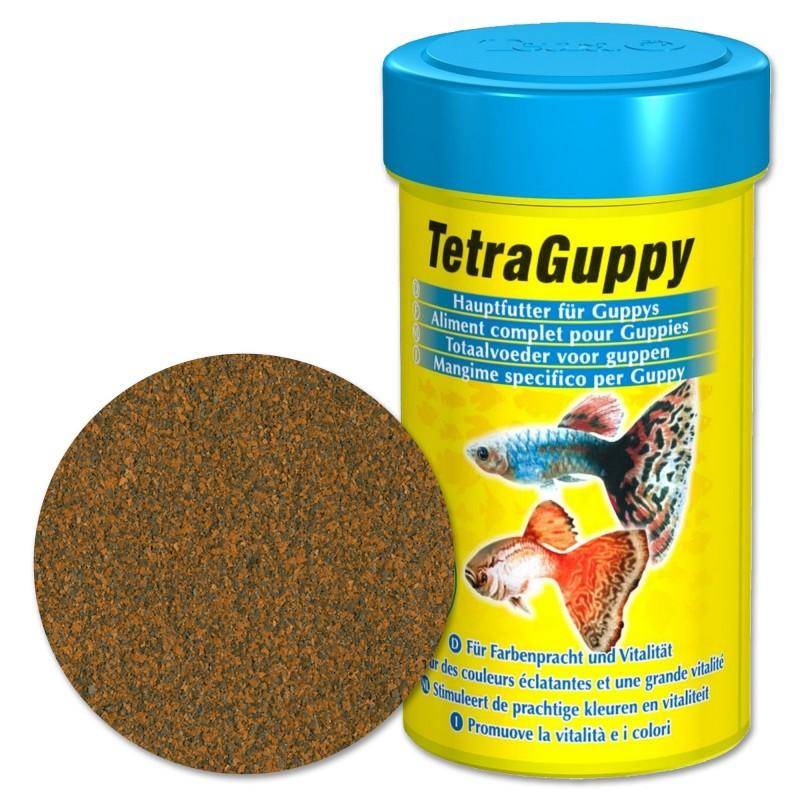 Tetra Guppy 100 ml Mangime in fiocchi completo per guppy d'acquario favorisce il colore