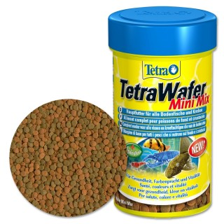 Tetra Wafer Mini Mix 100 ml Mangime per piccoli pesci e gamberetti da fondo