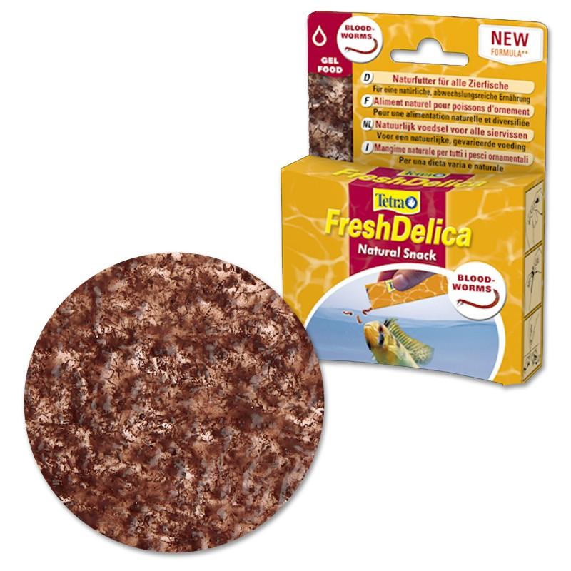 Tetra FreshDelica Chironomus 48 gr Mangime naturale in gel vitaminico con larve per pesci d'acquario
