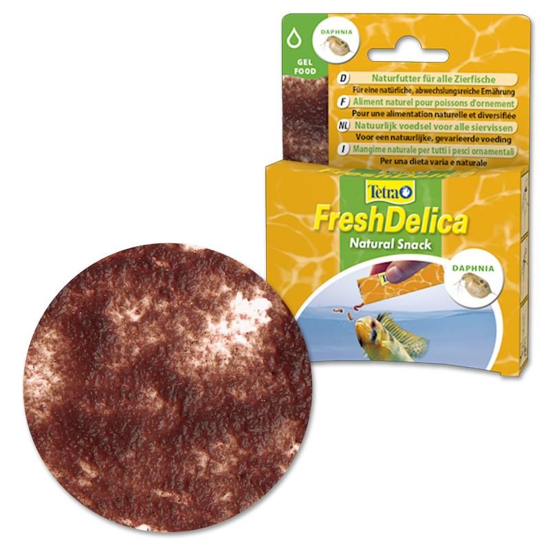 Tetra FreshDelica Daphnia 48 gr Mangime naturale in gel vitaminico con larve per pesci d'acquario