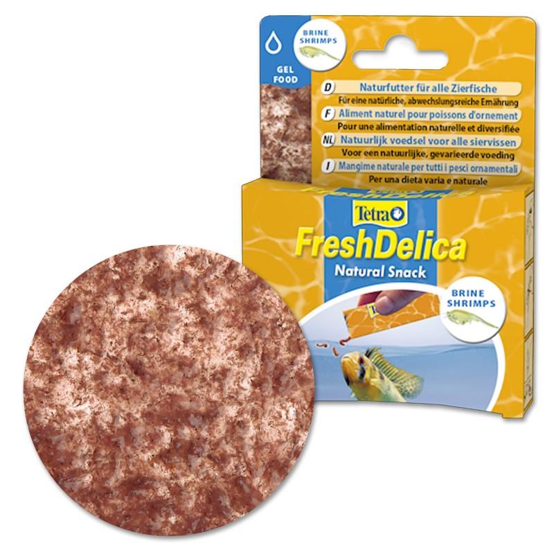 Tetra FreshDelica BrineShrimps 48 gr Artemia Mangime naturale in gel vitaminico per pesci d'acquario