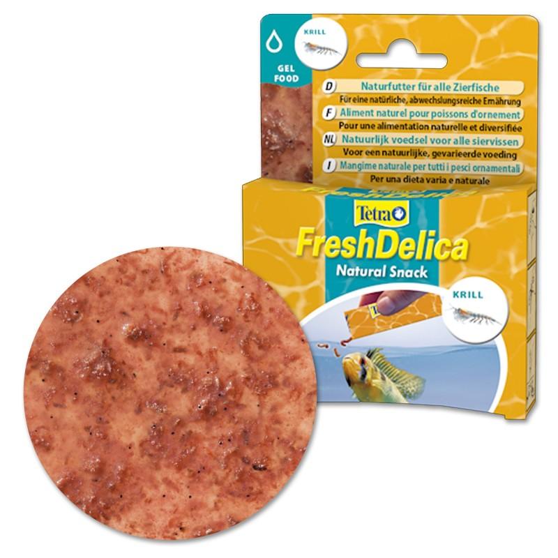 Tetra FreshDelica Krill 48 gr Mangime naturale in gel vitaminico con crostacei per pesci d'acquario
