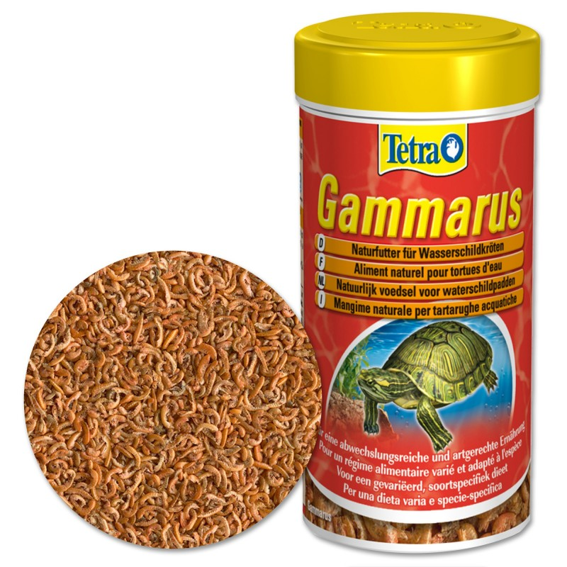 Tetra gammarus 100 ml mangime naturale per tartarughe for Mangime tartarughe acqua