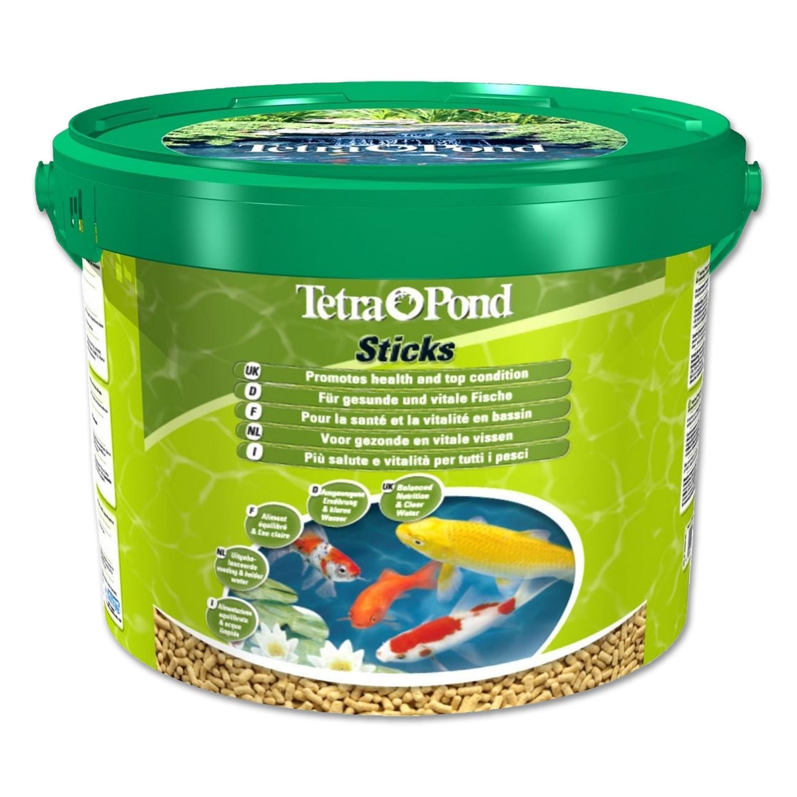 Tetra pond sticks 10 lt mangime in stick per pesci da for Laghetto pesci rossi e tartarughe