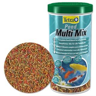 Tetra Pond Multi Mix 1 Lt Mangime Mix per pesci da laghetto carpe da giardino pesci rossi