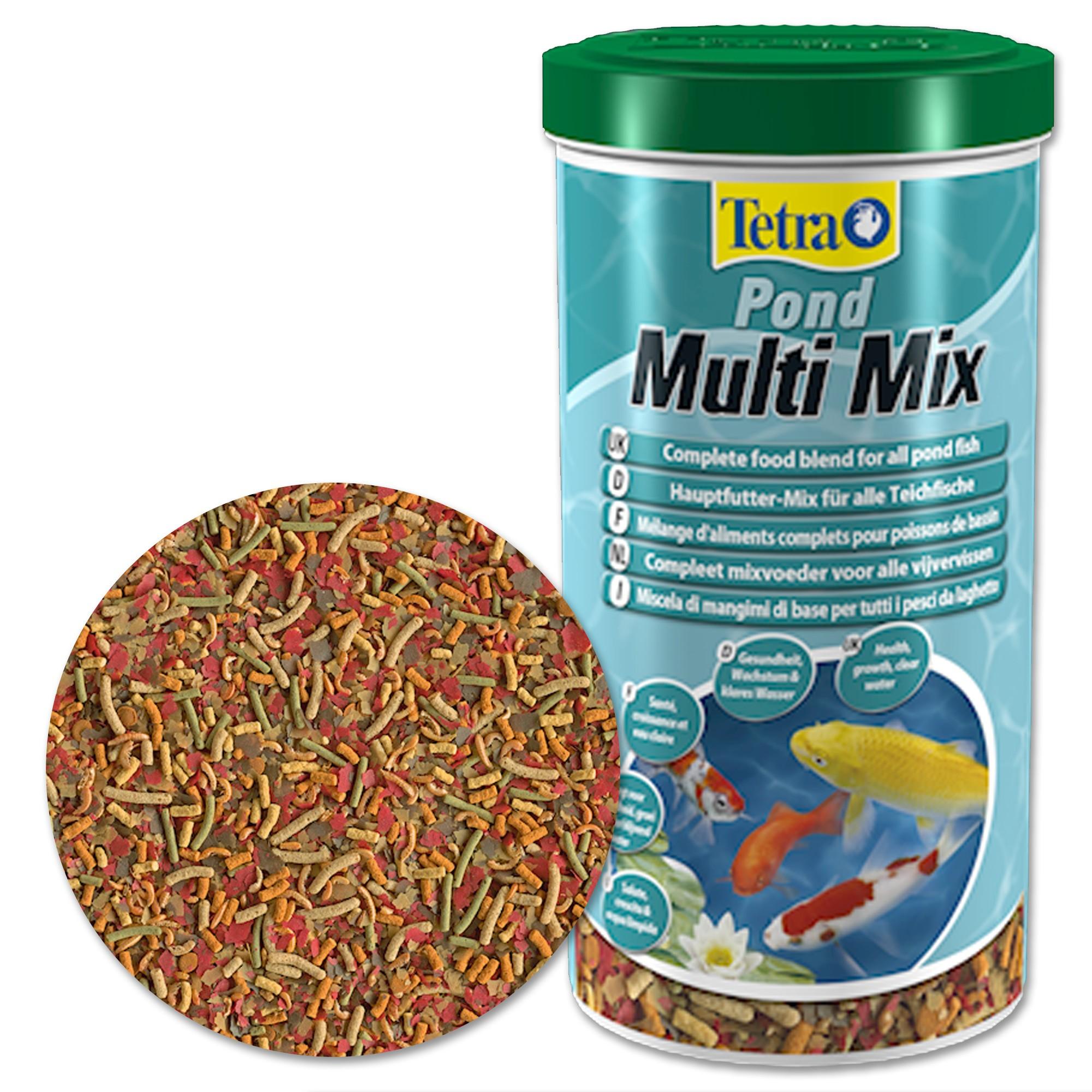Pesci Da Laghetto Giardino.Tetra Pond Multi Mix 1 Lt Mangime Mix Per Pesci Da Laghetto Carpe Da