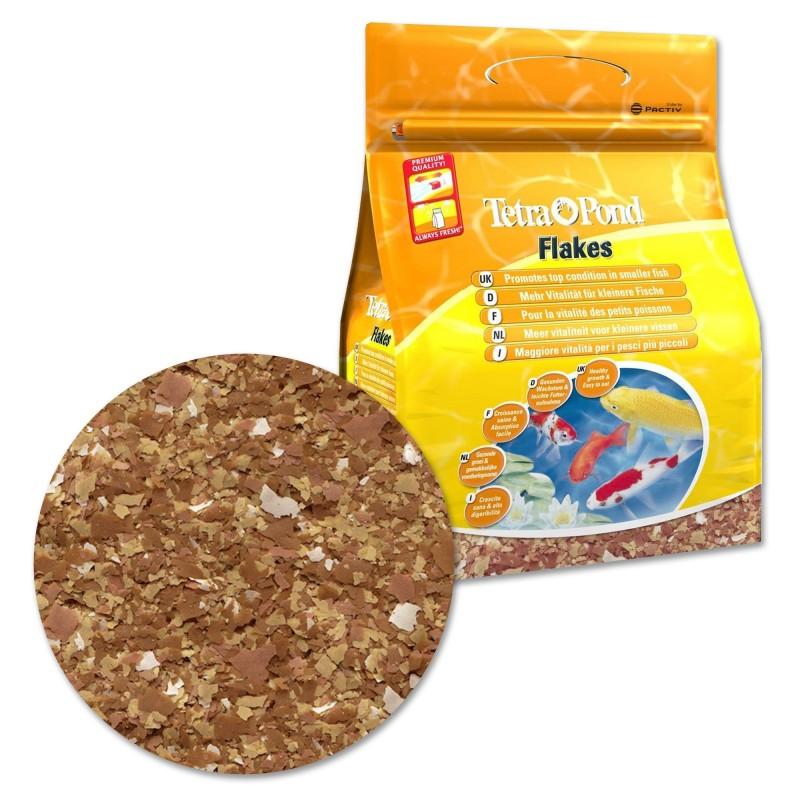 Tetra pond flakes 4 lt mangime in fiocchi per pesci da for Riproduzione pesci rossi in laghetto